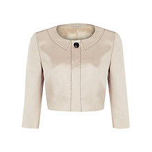 Buy Planet Cropped Satin Jacket, Champagne Online at johnlewis.com