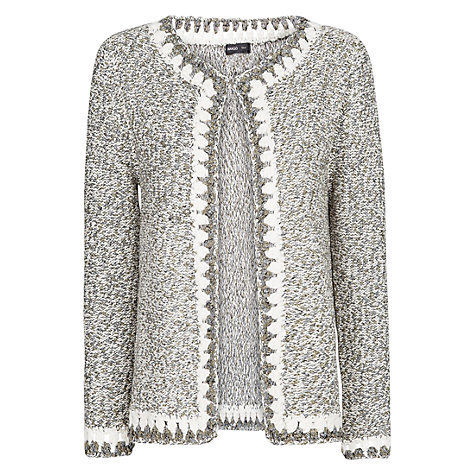 Buy Mango Flecked Knit Cardigan, Natural White Online at johnlewis.com