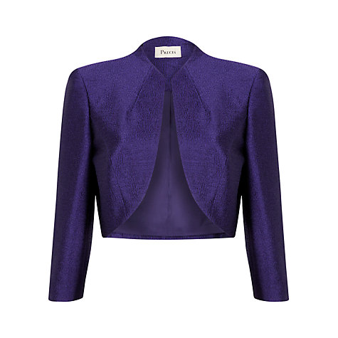 Buy Precis Petite Satin Bolero, Purple Online at johnlewis.com