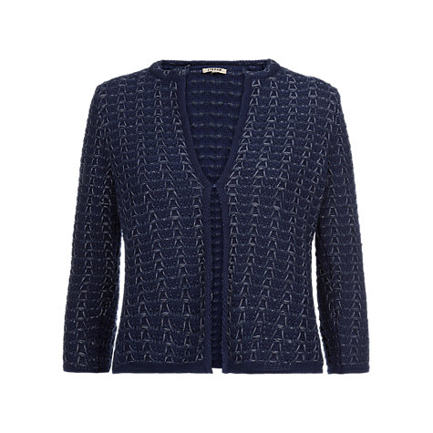 Buy Jigsaw Honeycomb Knit Cardigan, Blue Online at johnlewis.com