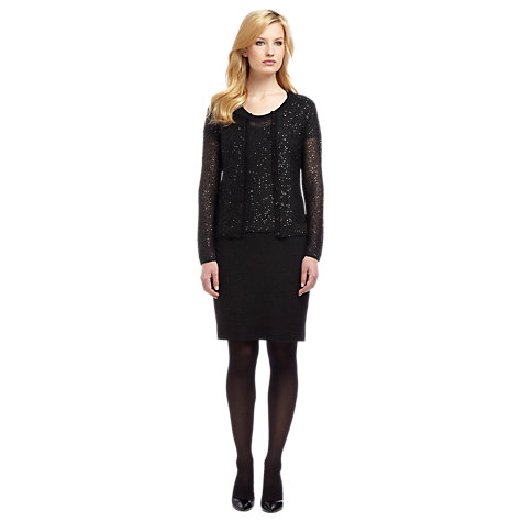 Buy Planet Sequin Cardigan, Black Online at johnlewis.com