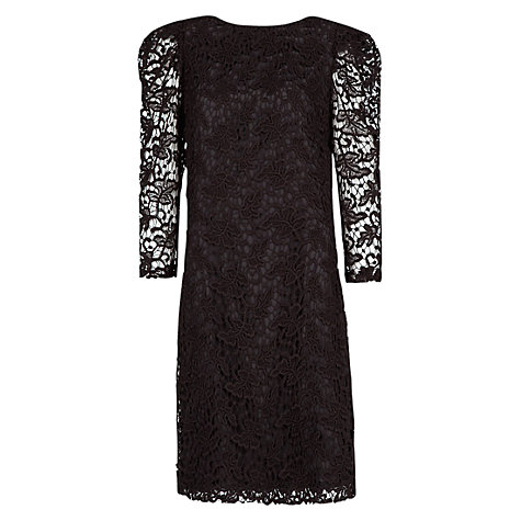 Buy Mango Puff Sleeve Guipure Dress Online at johnlewis.com