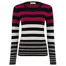 Buy Planet Stripe Knit Jumper, Multi Dark Online at johnlewis.com