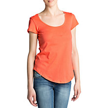 Buy Mango Essential Cotton T-Shirt, Coral Online at johnlewis.com