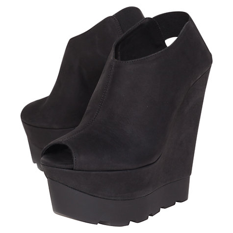 Buy Kurt Geiger Grace Platform Sandals, Black Online at johnlewis.com