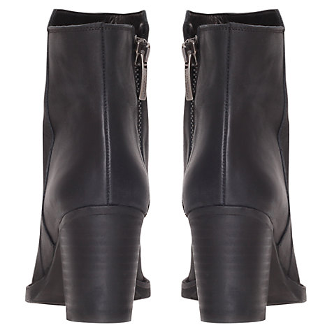 Buy Kurt Geiger Arno Leather Boots, Black Online at johnlewis.com