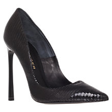 Buy Kurt Geiger Cilla Court Shoes, Black Lizard Online at johnlewis.com