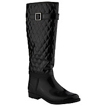 Buy John Lewis Ness Quilted Wellington Boots, Black Online at johnlewis.com