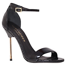 Buy Kurt Geiger Belgravia Heeled Sandals, Wine Online at johnlewis.com