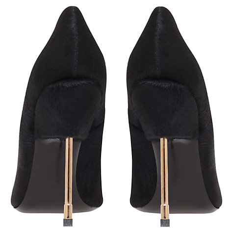 Buy Kurt Geiger Britton Court Shoes, Black Pony Online at johnlewis.com