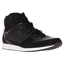 Buy KG by Kurt Geiger Lee Suede Mix Trainers, Black Online at johnlewis.com
