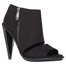 Buy KG by Kurt Geiger Closed Peep Toe Sandals, Black Online at johnlewis.com