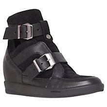 Buy KG by Kurt Geiger Lucas Wedged Trainers, Black Online at johnlewis.com