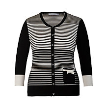 Buy Chesca Striped Cardigan, Black / Ivory Online at johnlewis.com