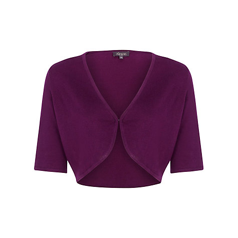 Buy Alexon Short Sleeve Bolero, Claret Online at johnlewis.com