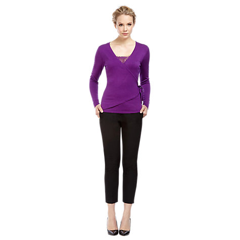 Buy Kaliko Lace Wrap Jumper, Dark Purple Online at johnlewis.com