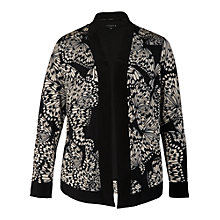 Buy Chesca Butterfly Print Jersey Jacket, Black Online at johnlewis.com