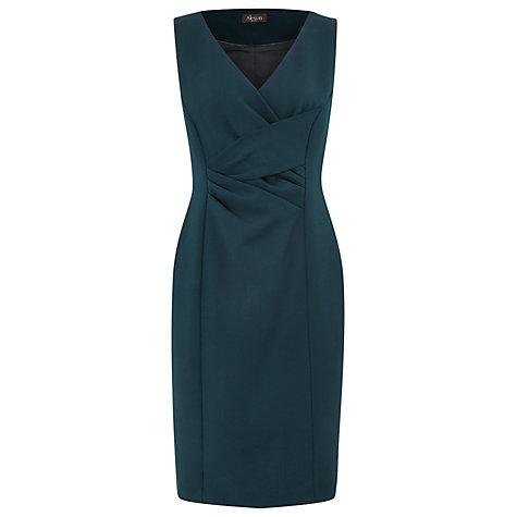 Buy Alexon Crepe Front Dress, Dark Green Online at johnlewis.com