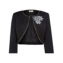 Buy Precis Petite Floral Detail Bolero, Black Online at johnlewis.com