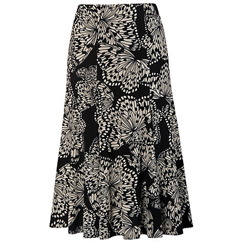 Buy Chesca Butterfly Print Jersey Skirt, Black Online at johnlewis.com