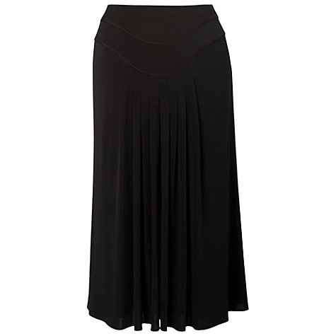 Buy Chesca Piping Trim Tuck Detail Jersey Skirt, Black Online at johnlewis.com