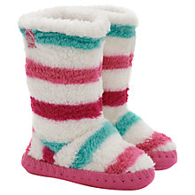 Buy Baby Joule Girls' Slipper Socks, Cream/Multi Online at johnlewis.com