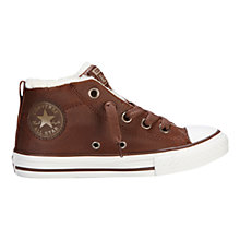 Buy Converse Chuck Taylor All Star Leather Trainers, Pinecone Online at johnlewis.com
