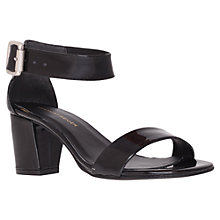 Buy KG by Kurt Geiger Nina Sandals, Smooth Black Online at johnlewis.com