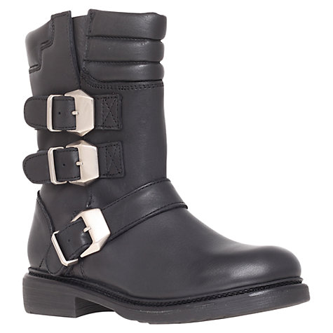 Buy KG by Kurt Geiger Shout Biker Boots, Black Online at johnlewis.com
