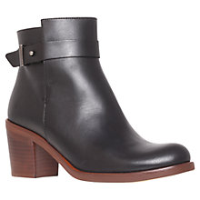 Buy KG by Kurt Geiger Sasha Leather Ankle Boots, Black Online at johnlewis.com