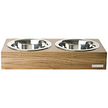 Buy Mungo & Maud Double Wooden Dog Bowl Online at johnlewis.com