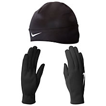 Buy Nike Women's Thermal Beanie And Gloves Set, Black Online at johnlewis.com