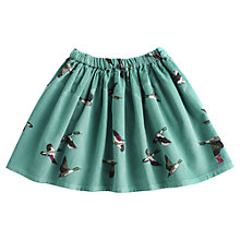 Buy Little Joule Harriet Bird Skirt, Aqua Online at johnlewis.com