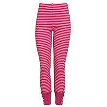 Buy Little Joule Maylett Striped Leggings, Ruby Pink Online at johnlewis.com