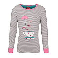 Buy Little Joule Ava Mouse Striped Top, Grey/Multi Online at johnlewis.com