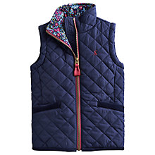 Buy Little Joule Beccles Quilted Gilet, Navy Online at johnlewis.com