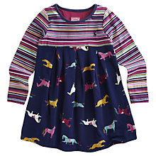 Buy Little Joule Hayley Horse Dress, Navy Online at johnlewis.com
