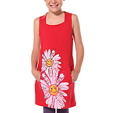 Buy Desigual Afra Pinafore Dress, Red Online at johnlewis.com