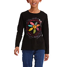 Buy Desigual Alberola Long Sleeve T-Shirt, Black Online at johnlewis.com