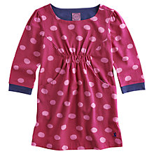 Buy Little Joule Lissy Spotted Tunic Dress, Ruby Online at johnlewis.com