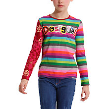 Buy Desigual Abellan T-Shirt, Multi Online at johnlewis.com