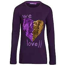 Buy Desigual Abril Long Sleeved Top, Purple Online at johnlewis.com