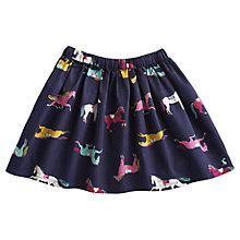 Buy Little Joule Harriet Horse Print Skirt, Navy Online at johnlewis.com