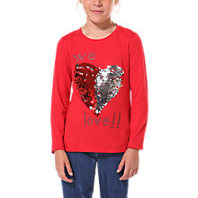 Buy Desigual Abril Long Sleeve T-Shirt, Red Online at johnlewis.com
