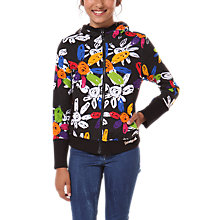 Buy Desigual Abrante Reversible Hoodie, Black/Multi Online at johnlewis.com