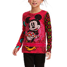 Buy Desigual Cora Minnie Mouse Long Sleeve T-Shirt, Red Online at johnlewis.com