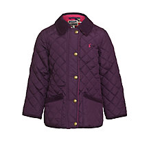 Buy Little Joule Quilted Mabel Jacket, Violet Online at johnlewis.com