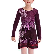 Buy Desigual Nerine Long Sleeve Dress, Purple Online at johnlewis.com
