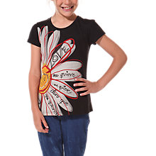 Buy Desigual Marga T-Shirt, Black Online at johnlewis.com