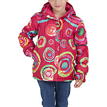 Buy Desigual Merche Rep Girl's Coat, Pink Online at johnlewis.com